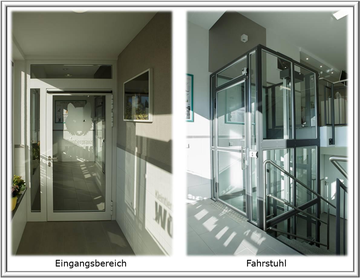 Eingangsbereich und Fahrstuhl